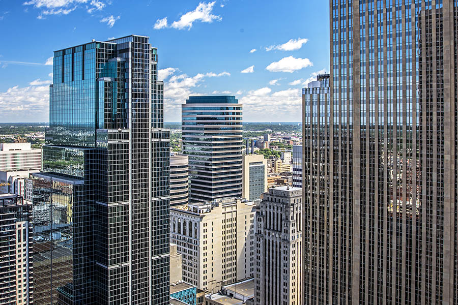 Business Insurance - View From the Office Deck of the 35th Floor of a Building in Minneapolis, MN